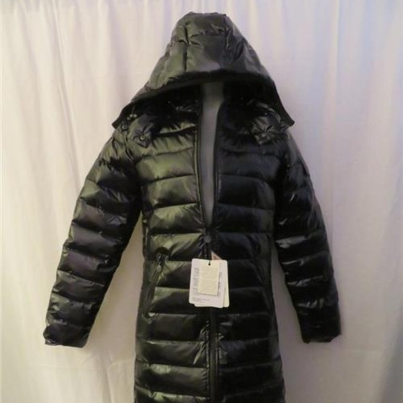 NWT WOMENS MONCLER BLACK GOOSE-DOWN COAT 3 L 8e7b362d5
